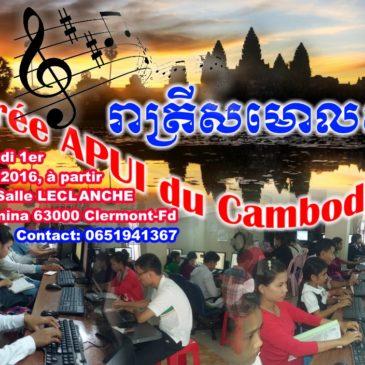 Soirée APUI du Cambodge, 1er octobre 2016