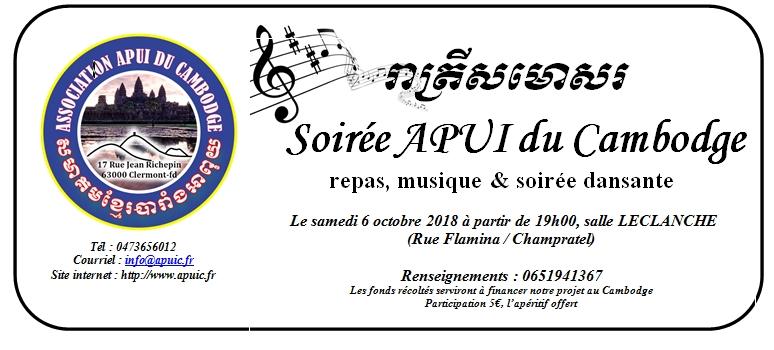 Soirée APUI du Cambodge octobre 2018