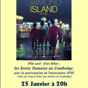 "Soirée CINEMA ""DIMAOND ISLAND"" CAMBODGE"