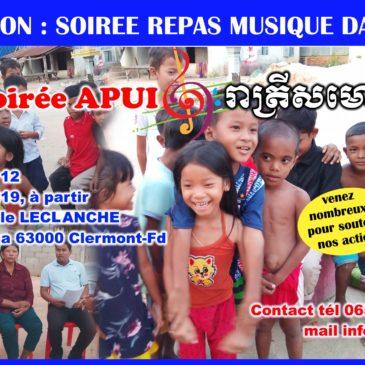 Soirée APUI du Cambodge 12 octobre 2019